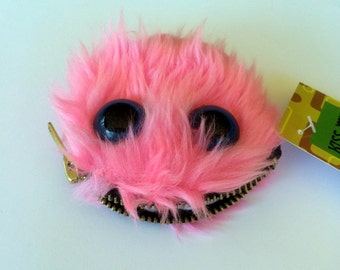 Fake Fur Pink Monster Coin Purse