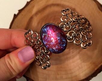 Dragon's breath Bracelet // Opal Bracelet // Mexican Opal Cuff Bracelet // Fire Opal Bracelet