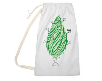 "Let It Grow - Laundry Bag - Clothing Bag - 28"" x 36"""