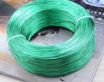 Green Aluminium wire, Artistic Aluminum wire, Craft Wire, 0.8mm diameter, 10 meters