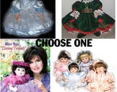 SALE Marie Osmond Baby Olive May Choice Blue, Christmas, Loving Tribute or Four Tiny Tots