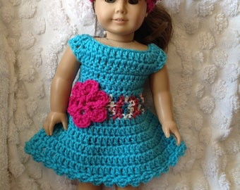 doll dress and hat