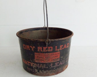 National Lead Paint Pail, Vintage Advertising, Dutch Boy