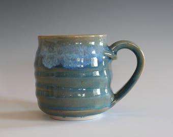 Pottery Mug, 8 oz, unique coffee mug, handmade cup, handthrown mug, stoneware mug, wheel thrown pottery mug, ceramics and pottery