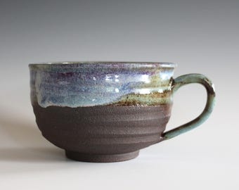Cappuccino Mug, 21 oz, Pottery Coffee Mug, handmade ceramic soup bowl, handthrown ceramic stoneware pottery mug, unique coffee mug