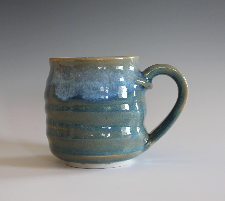 Pottery Mug 8 Oz Unique Coffee Mug Handmade Cup Handthrown
