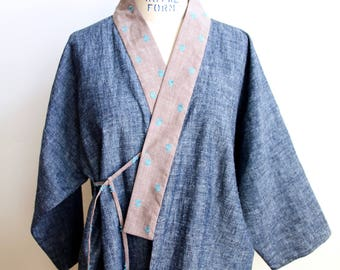 arts + letters organic kimono smock jacket 'enso'