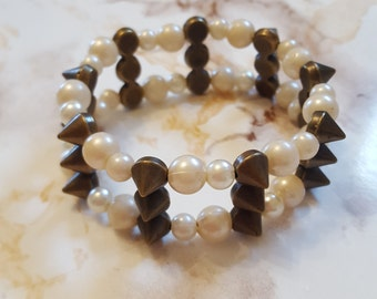 Double Spiked with Pearls
