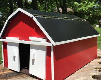 OOAK Original Design Handmade Big Red Barn