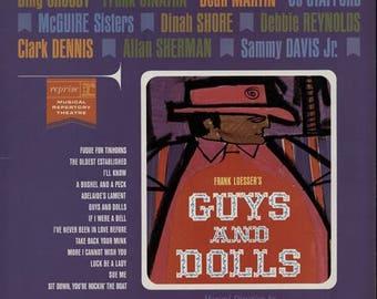 Guys And Dolls Reprise Records 1963 Frank Sinatra Debbie Reynolds Rat Pack