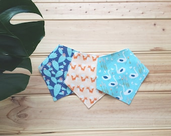 Baby bandana bib - set of three