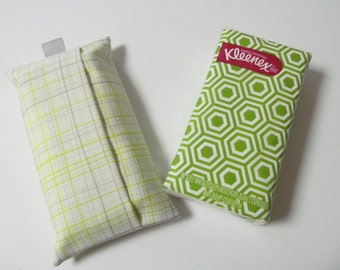 Tissue Case/Gray And Lime Plaid