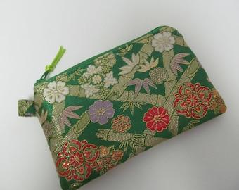 """Zipper Pouch/4""""x6""""/Japanese Kimono Style"""