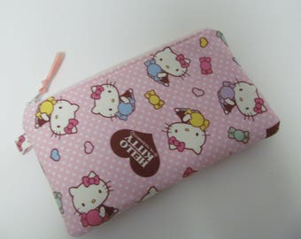 "Zipper Pouch/5""x8""/Hello Kitty x Super Pale Pink Zipper"