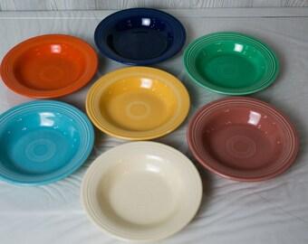 Vintage Fiestaware Deep Plates, set of 4