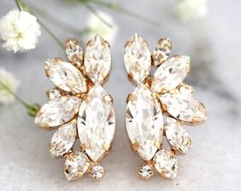 Bridal Earrings, Bridal Crystal Earrings, Bridal Swarovski Cluster Earrings, Bridesmaids Earrings, Gift For Her, Bridesmaids Earrings