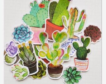 Pot Plants Cut Out Planner Stickers Scrapbooking Stickers Die Cut Stickers Paper Deco Sticker Stamp
