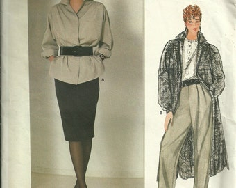 Vogue American Designer Sewing Pattern 1191, Jacket Pants and Skirt Size 12 Bust 34