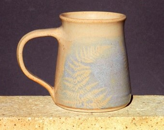 Botanical Mug, 16oz. Blue Coffee Tea Large Handmade stoneware, Microwavable Home and Living Kitchen and Dining Gift for Her Gift for Him