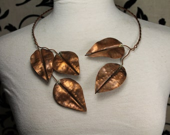 Copper Leaf Necklace (sold)
