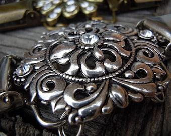 Metal filigree dress clip, shirt clip, sweater clip, jacket clip for back of waist