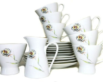Mid Century Modern Rosenthal Cups Saucers Plates Cream and Sugar 18 Pieces