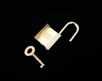 Gold Padlock Handbag Replacement Fits Hermes, Accessory, Jewelry Or Crafts