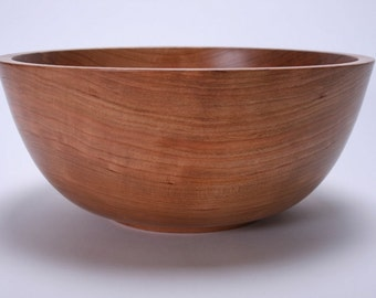 "Wild Cherry Wooden Salad Bowl #1535 10 1/2"" X 4 1/2"""