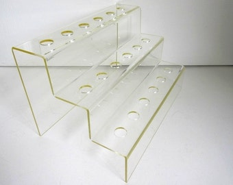 3 Tier Acrylic Display Stand, 18 Holes Bottle