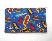 Comic Book Words Zipper Pouch / Pencil Case / Make Up Bag / Gadget Pouch