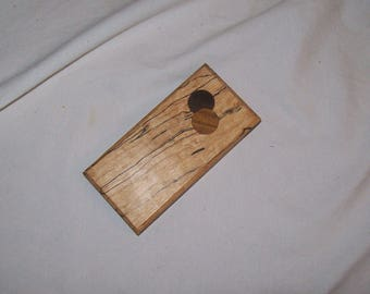 Spalted Maple Whimsy Box Tooth Fairy box Pill Box Guitar Pick Holder