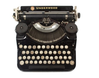 Underwood PortbleTypewriter - Working Order - Standard - Glass Keys -  FREE Domestic Shipping