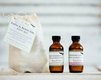 Bath & Body Oil Sampler Gift Set, Bath and Body, Body Oils
