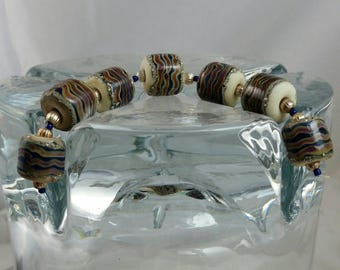African Trade Beads lampwork  bead set destash