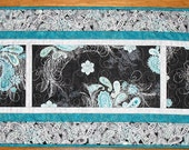 Reserved for Laren Paisley Table Runner, Metallic Silver, focus fabric Hoffman