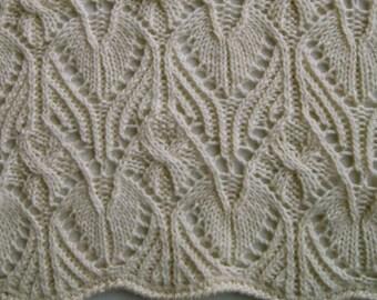 Knit Shawl Pattern:  Dornie Lace Shawl Knitting Pattern
