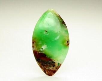 Green Teardrop Chrysoprase Designer Cabochon