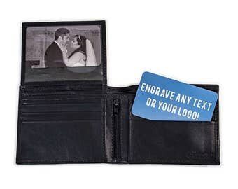 Groomsmen Wallet Gift, Personalized Wallet- Mens Wallet, Groomsmen Gift, Engraved Leather Wallet, Wallet for Him Gift, Leather Wallet