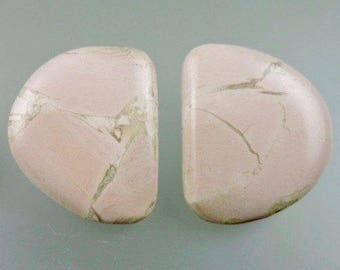 Pink Pony Magnesite Cabochons, Pink Pony Earring Cabs, Pink Magnesite, Hand Cut Pink Pony, Pendant Cabs, Gift Cabs, C1438, 49erMinerals