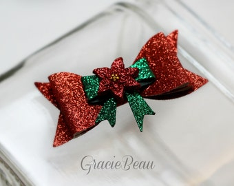 Christmas Hair Bow--7 Styles To Choose From