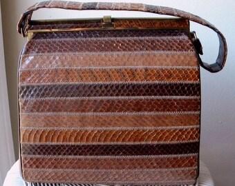 Snazzy Snakeskin Handbag