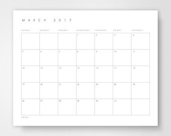 Desk Calendar, 2017 Monthly Desk Calendar, Printable Desk Calendar, Calendar Download, Calendar Template, Large Calender, Printable Calender