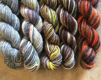The Hog's Head Mini Sock Yarn Skeins - 25 yds each