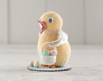 Easter Chick - Handmade Vintage Style Spun Cotton Decoration