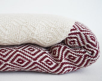 NEW / SALE 30 OFF / Diamond Blanket / Dark Red / Single Size / Bedcover, Beach blanket, Sofa throw, Traditional, Tablecloth