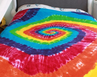Tie dye Blanket upcycled