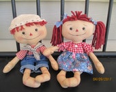 Mini Raggedy Ann and Andy set