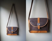 Vintage TED LAPIDUS Bag Leather Cross Body Bag Crossbody Purse Tan Leather French France Brown Purse Brown Leather Leather Crossbody Paris