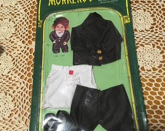 My Friend Monkenoo Monkey Tuxedo Outfit by Totsy - New in the package - Made in Hong Kong