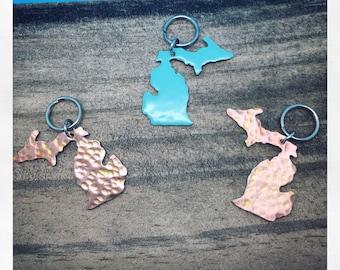 Michigan Petoskey Stone Keychain